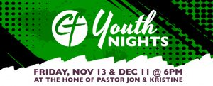 Christ Fellowship Youth Nights @ The Home of Pastor Jon & Kristine